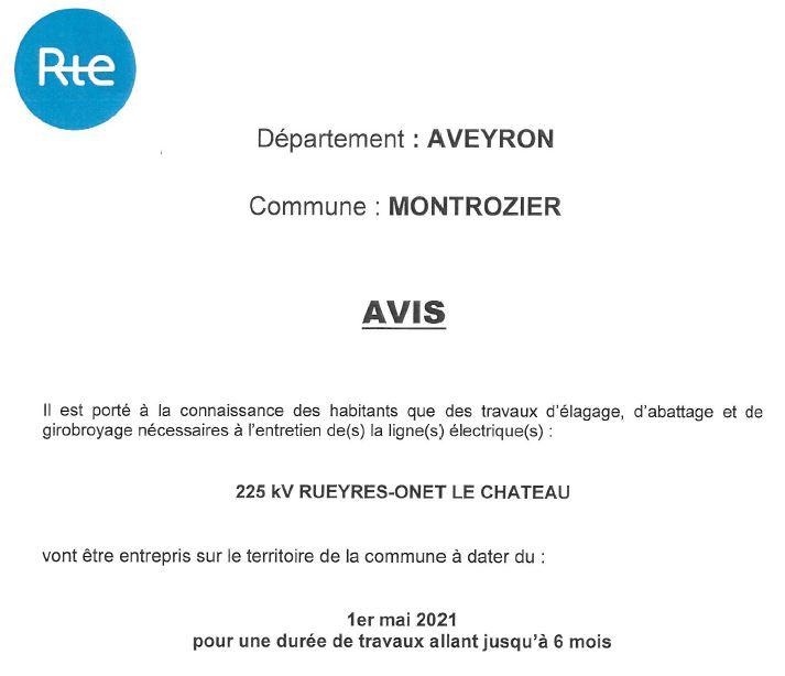 avis 1 rte commune Montrozier
