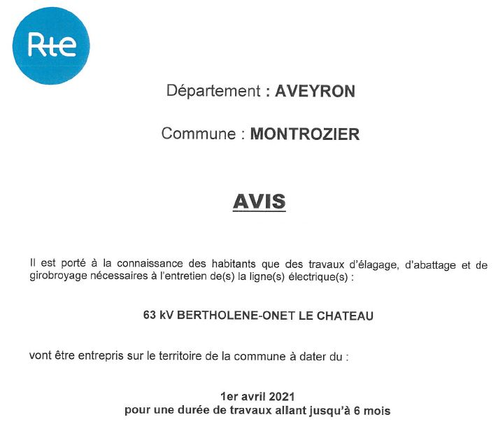 avis 2 rte commune Montrozier
