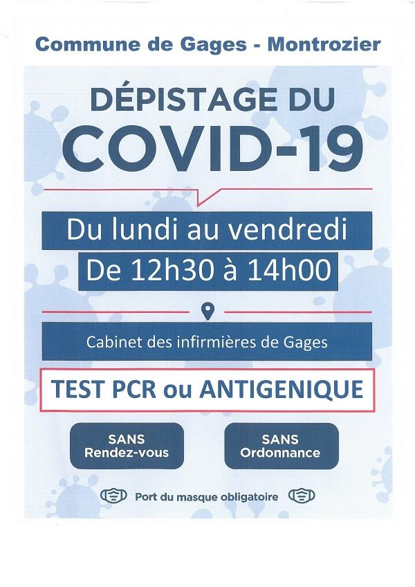 Dépistage covid19