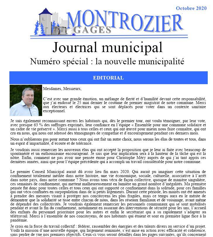 journal municipal numéro spécial