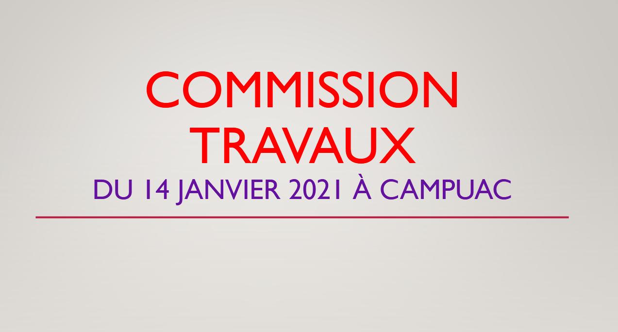 Commission travaux à Campuac